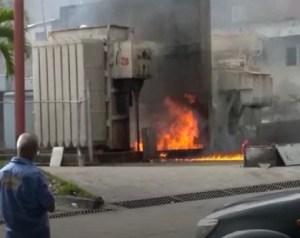 Reportaron explosión de transformadores en Subestación eléctrica en Caracas (Video)