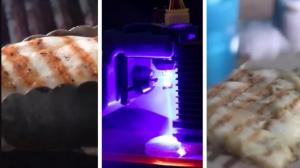Imprimieron un pollo en 3D, lo cocinaron con rayos láser y el resultado sorprendió a todos