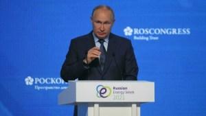 Vladimir Putin: Por inversión insuficiente, no todos los productores de Opep+ pueden aumentar su oferta